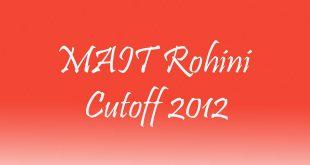 MAIT Cutoff 2012