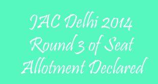 JAC Delhi Round 3