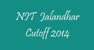 NIT Jalandhar Cutoff 2014