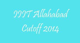 IIIT Allahabad Cutoff 2014