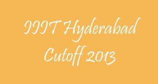 IIIT Hyderabad Cutoff 2013