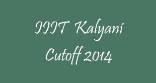 IIIT Kalyani Cutoff 2014