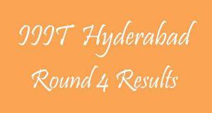 IIIT Hyderabad Round 4 Results
