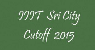 IIIT Sri city Cutoff 2015