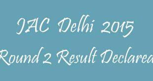 JAC Delhi 2015 Round 2 result