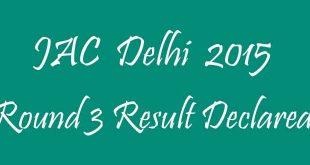 JAC Delhi Round 3 Result