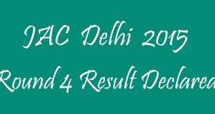 JAC Delhi Round 4 Result
