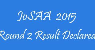 JoSAA 2015 Round 2