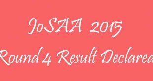 JoSAA 2015 Round 4 Result