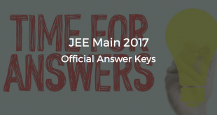 JEE Main 2017 Official Answer Keys