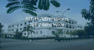 IIIT Hyderabad Admissions JEE (Main) Mode