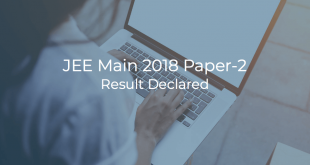 JEE Main 2018 Paper-2 Result Declared