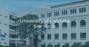 University of Calcutta Seat Matrix
